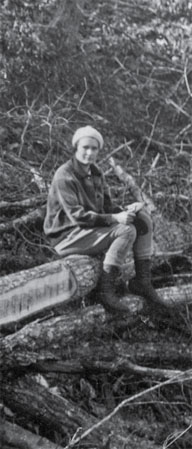 Margaret Stoughton Abel, first woman forester in the Forest Service, 1930.