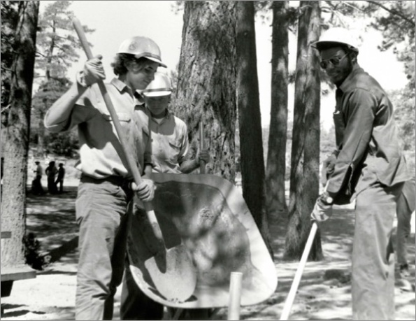 Jobs Corps working in the Angeles National Forest in the late 1960s. | Photo: Courtesy Angeles National Forest