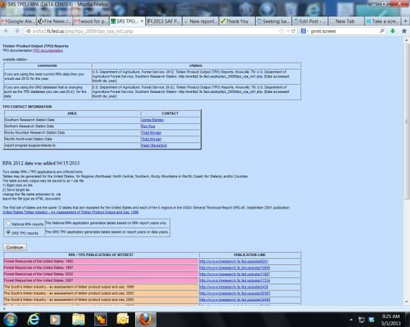 database screenshot